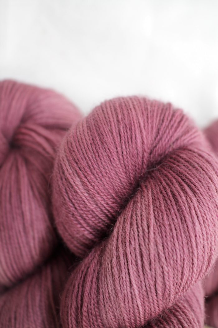 Skeins in a dusky rose pink
