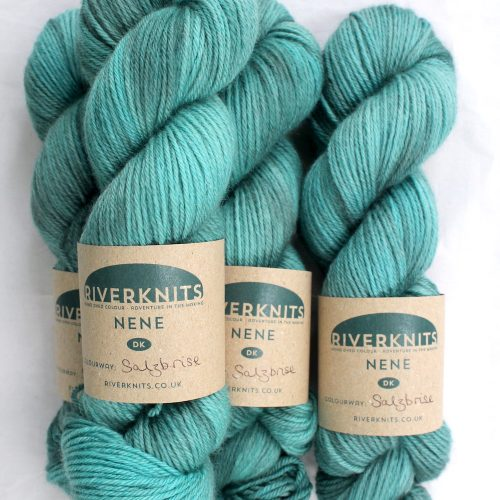 Skeins in a gentle blue-green