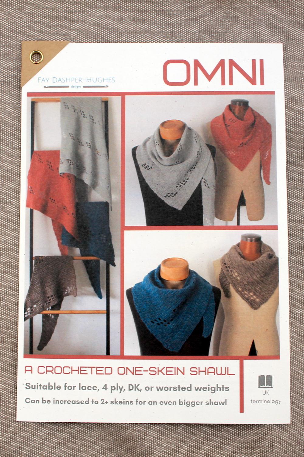 A printed copy of Omni crochet pattern