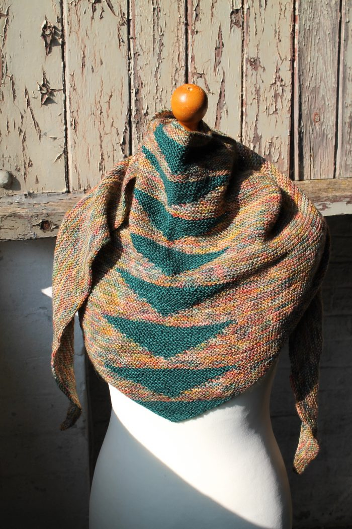 Knitted version of Arria Shawl