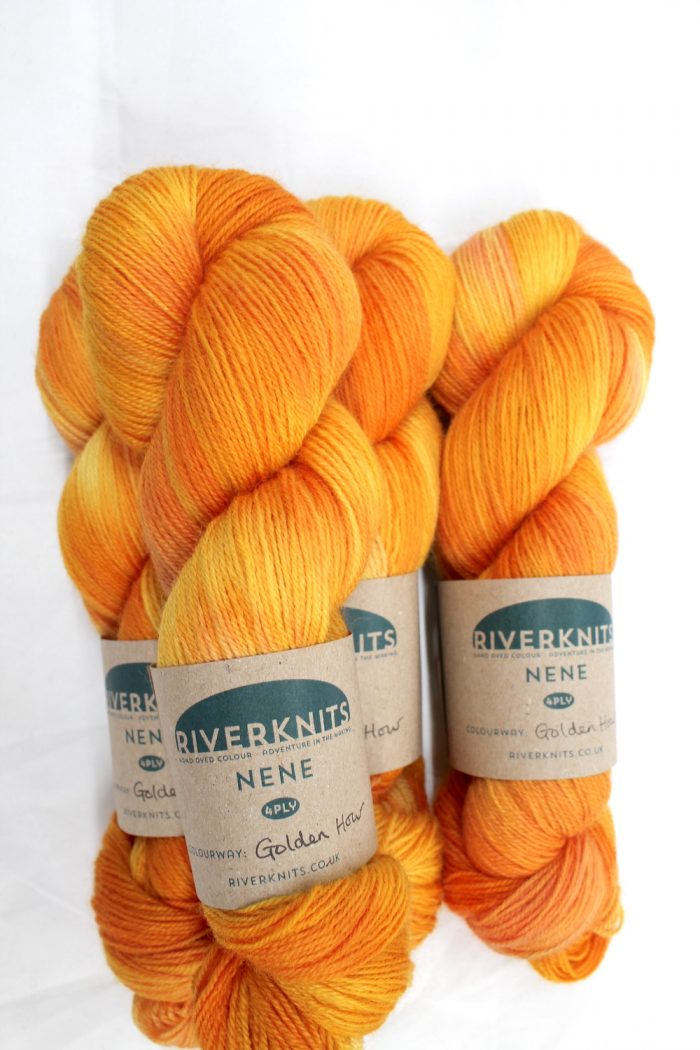 Skeins of Golden Hour - a bright golden yellow