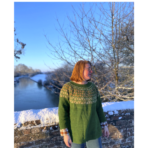 Front page of the Prism knitting pattern