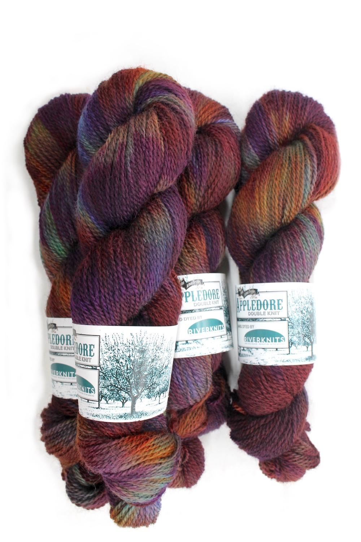 Skeins of Appledore in the Excalibur colourway