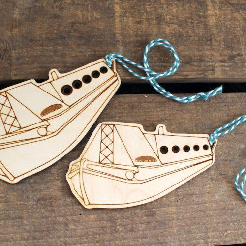 Two narrowboat needle gauges, one large, one small