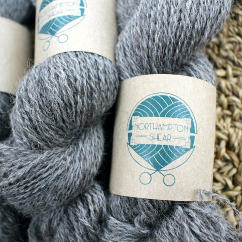 Close up of skeins of Northampton Shear Leicester Longwool