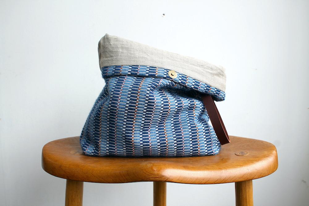 Handwoven bag in the Ocean colourway