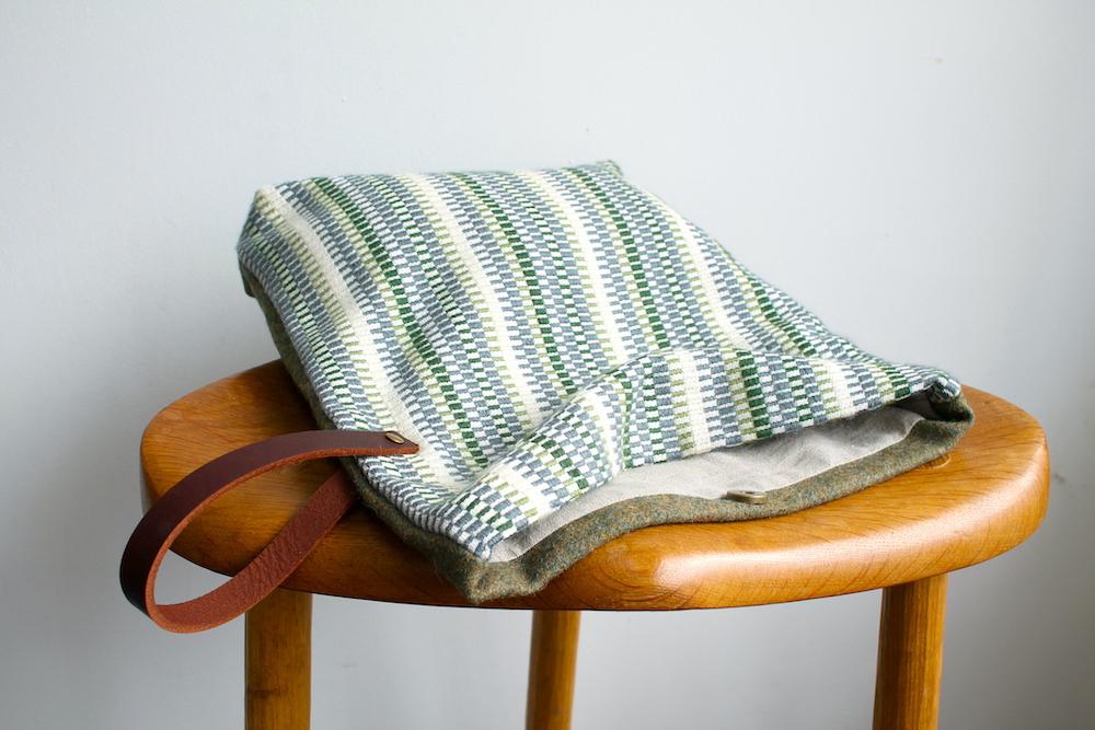 Handwoven bag in the Marsh colourway