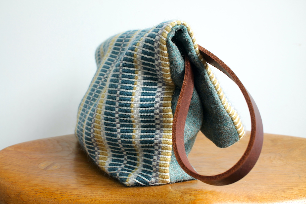 Handwoven bag in the Estuary colourway
