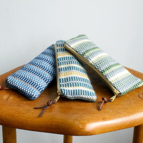 All 3 colourways of handwoven cases