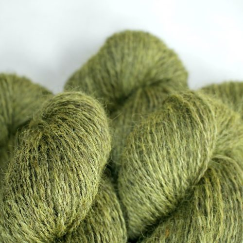 Close up of skeins of Northampton Shear Leicester Longwool in the colourway Coton