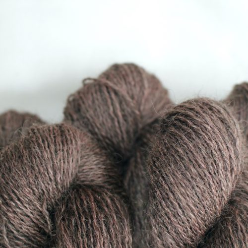 Close up of skeins of Northampton Shear Leicester Longwool in the colourway Muscott