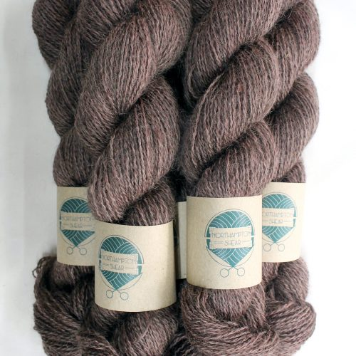 Skeins of Northampton Shear Leicester Longwool in the colourway Muscott