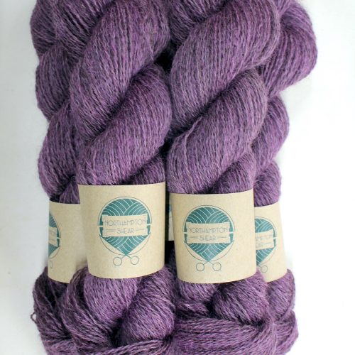 Skeins of Northampton Shear Leicester Longwool in the colourway Fawsley