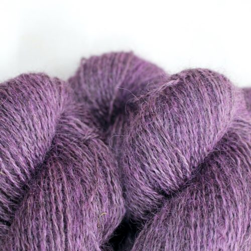 Close up of skeins of Northampton Shear Leicester Longwool in the colourway Fawsley