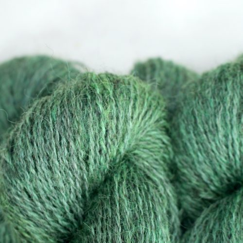 Close up of skeins of Northampton Shear Leicester Longwool in the colourway Everdon