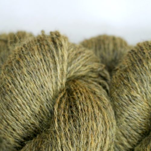 Close up of skeins of Northampton Shear Leicester Longwool in the colourway Snorscombe