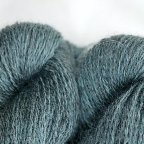 Close up of skeins of Northampton Shear Leicester Longwool in the colourway Nobottle