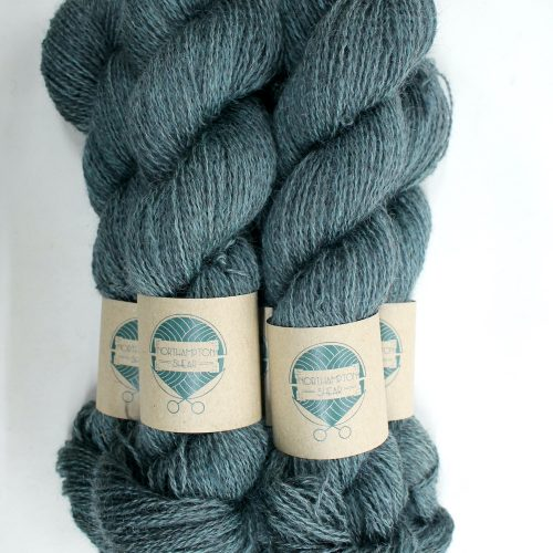 Skeins of Northampton Shear Leicester Longwool in the colourway Nobottle