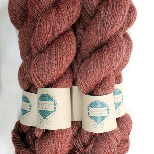 Skeins of Northampton Shear Leicester Longwool in the colourway Drayton